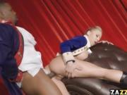 Katie Morgan on stage taking Isiah Maxwell's big black cock