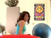 Gorgeous Brunette Ex Girlfriend Kira Adams Sucking Dick POV