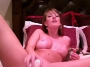 Brunette records herself masturbating for her husband