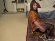 Hairy milf Susana Moore from the USA fucks a dildo