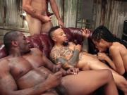 Cock hungry ebony fucking horny studs