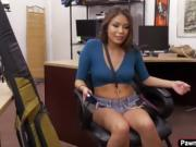 Samantha Parker gets banged for cash in the pawnshop