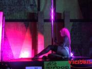 Erotic pole dance show on stage at VSF 2016