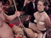 Caning and anal group bdsm sex