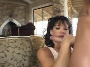 Brunette Babe Sucks And Fucks Big Huge Cock