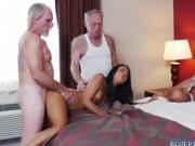 Nikki Kay rides Dukes old cock on top