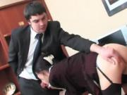 Two Coworkers Get Hot And Nasty In The Cubicle