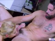 Blonde boss Ashley Fires needs a big stiff cock in her pussy