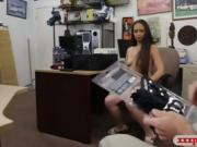 Hot woman sells her stuffs and pounded at the pawnshop