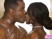 Big tits ebony Skyler gets hammered hard