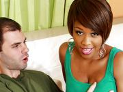 Hot Ebony Slut Gets Fucked By Lucky White Guy
