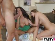 Mom Jamie Valentine and Dillion Harper sharing