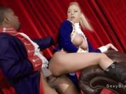 Interracial huge cock fucking in theater