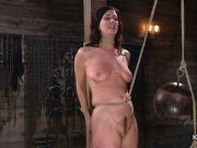 Natural huge tits slave gets crotch rope