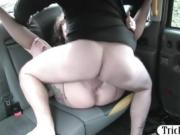 Horny passenger banged and cum on pussy by the driver