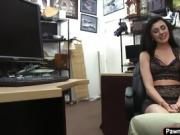 Slut babe Kallie Joe having sex with the pawnshop owner