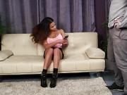 Bigtitted british voyeur teasing with boobs
