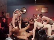 Lesbians in bdsm orgy at dyke bar