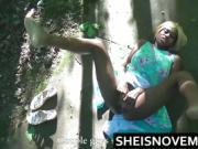 Ebony Girl Sexy Teen Amateur POV Blowjob Fuck French Stranger