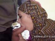 Arab woman in hijab big cock sucking