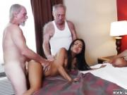 Chinese old man Staycation with a Latin Hottie