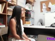 Hardcore office threesome with teens
