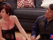 Desperate swingers are warming up with relaxing cock sucking