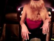 Police man anal fingers blonde slut in car before fucking her