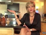 Cheating english milf lady sonia shows her huge breasts