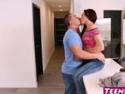 Kandi Quinn fucks her sisters ex boyfriend in his home
