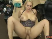 Big ass and big tits woman nailed hard by pawn keeper