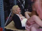 He fucks the blonde secretary in the storage room