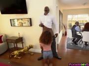 Petite ebony Kendall Woods gets a hardcore fuck