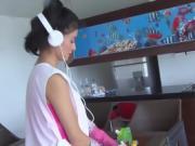 OPERACION LIMPIEZA - Rub down and wild fuck for hot maid