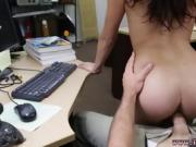 Amateur femdom blowjob College Student Banged in my pawn shop