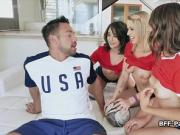 Cock hungry soccer chicks on trainers dick