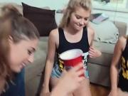 Wild fuck party with frustrated teens and big cocks