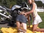 Teen strip dance xxx lezzie biker girls