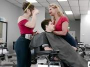 Abella and Phoenix gets banged in salon