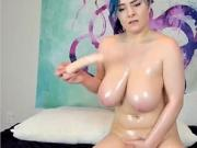 Busty girl masterbating on webcam PART-1