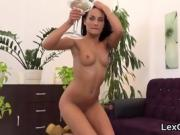 Perfect czech model lexi dona masturbates and comes