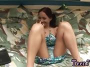 Brunette teen beach fuck Horny converse session