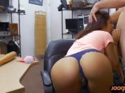 Curvy lady pounded by horny pawn keeper at the pawnshop
