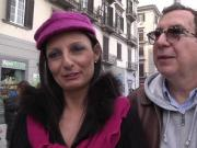 Barbara Italian mature milf plays with a big French dick