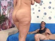 Curvy brunette babe fucked by her skinny boyfriend