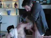 Tasted wam ho facialized after footjob and sucking bigcock