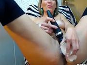 Blonde Milf Makes Herself Pleasure