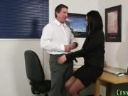Cfnm office babe laughing
