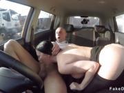 Huge tits Milf driving examiner fucking