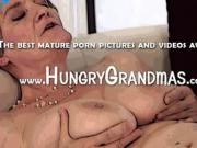 Blonde Grannys Hairy Pussy Is Finger